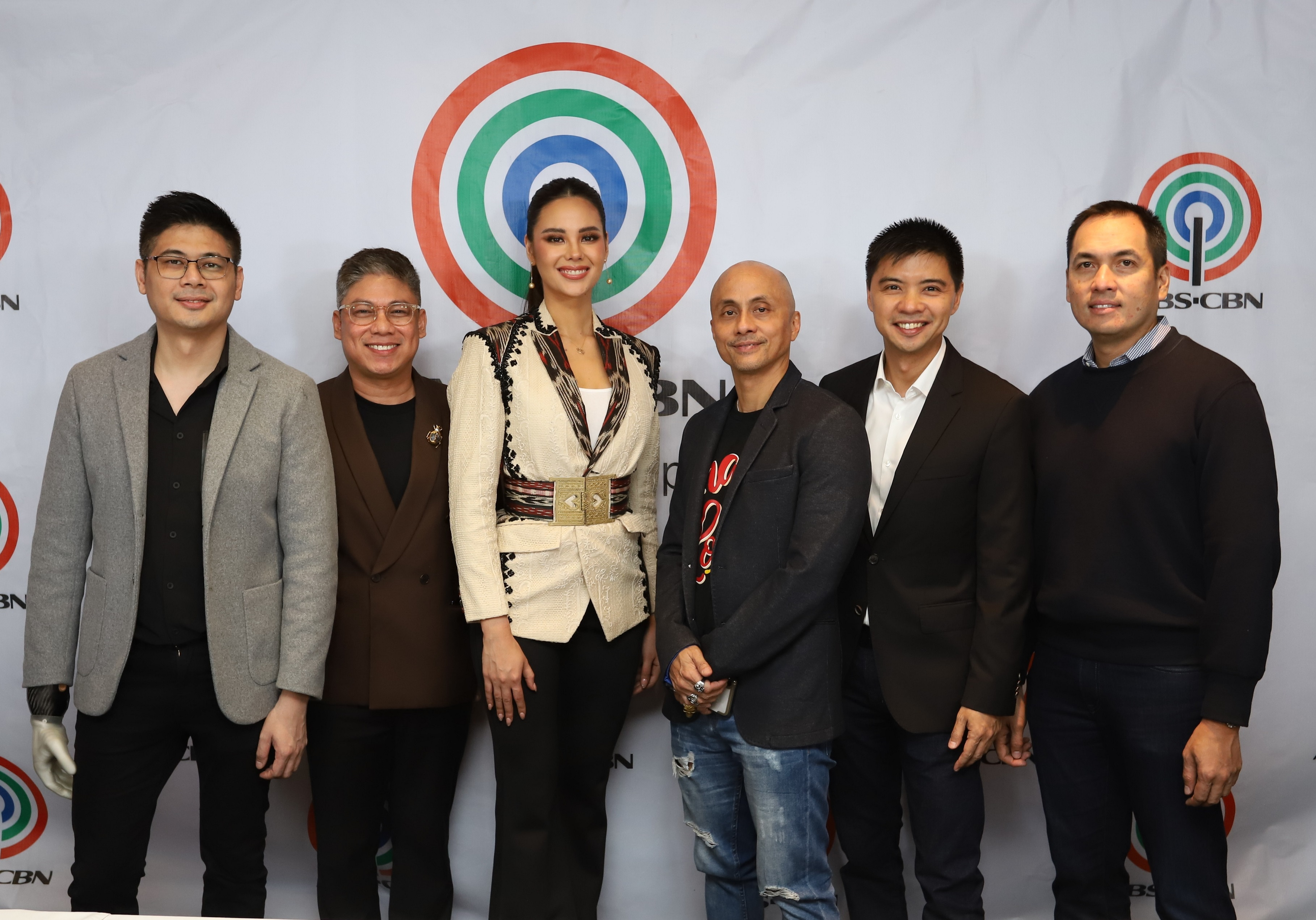 Catriona with Cornerstone Entertainment and ABS CBN execs
