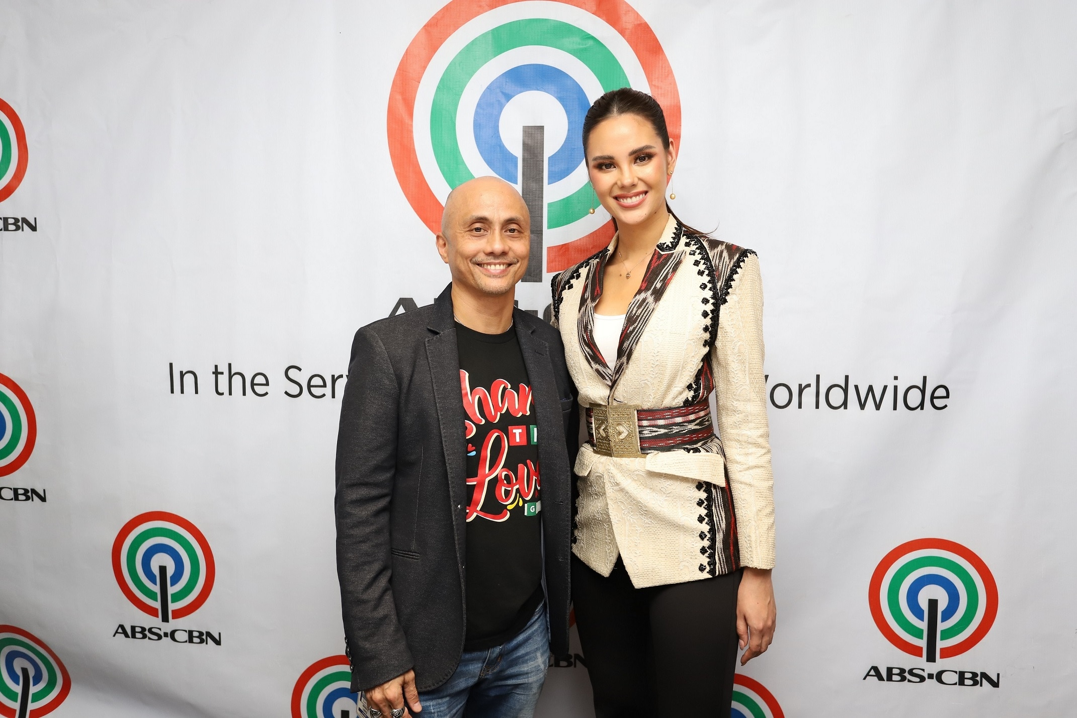 Creative Programs Inc  president Ernie Lopez and Miss Universe 2018 and now Kapamilya author Catriona Gray
