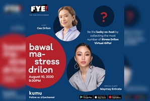 "Ces Drilon looks for a co-host in the next ""Bawal Ma-Stress Drilon"" livestream on FYE Channel"