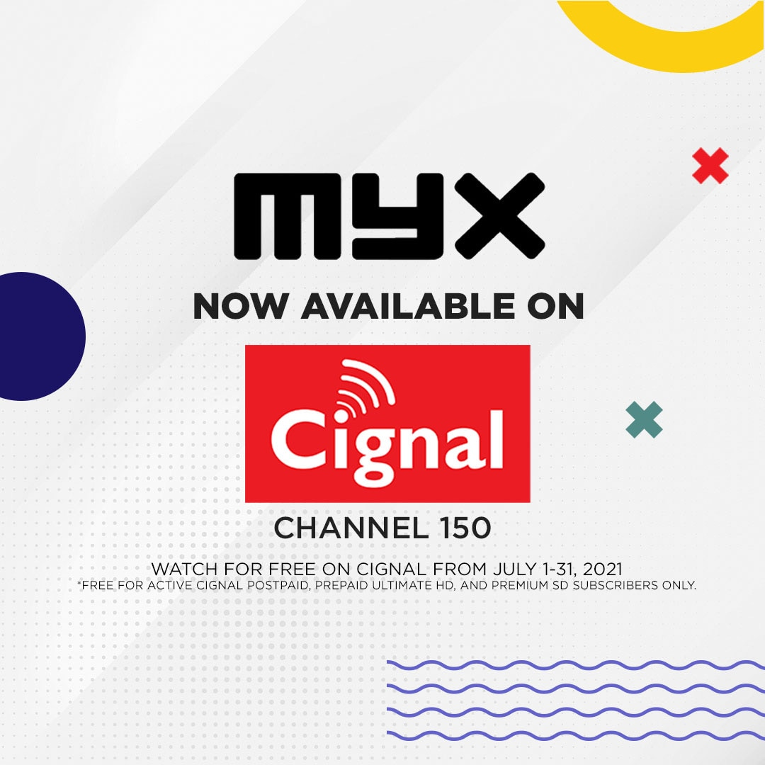 MYX now available on Cignal channel 150