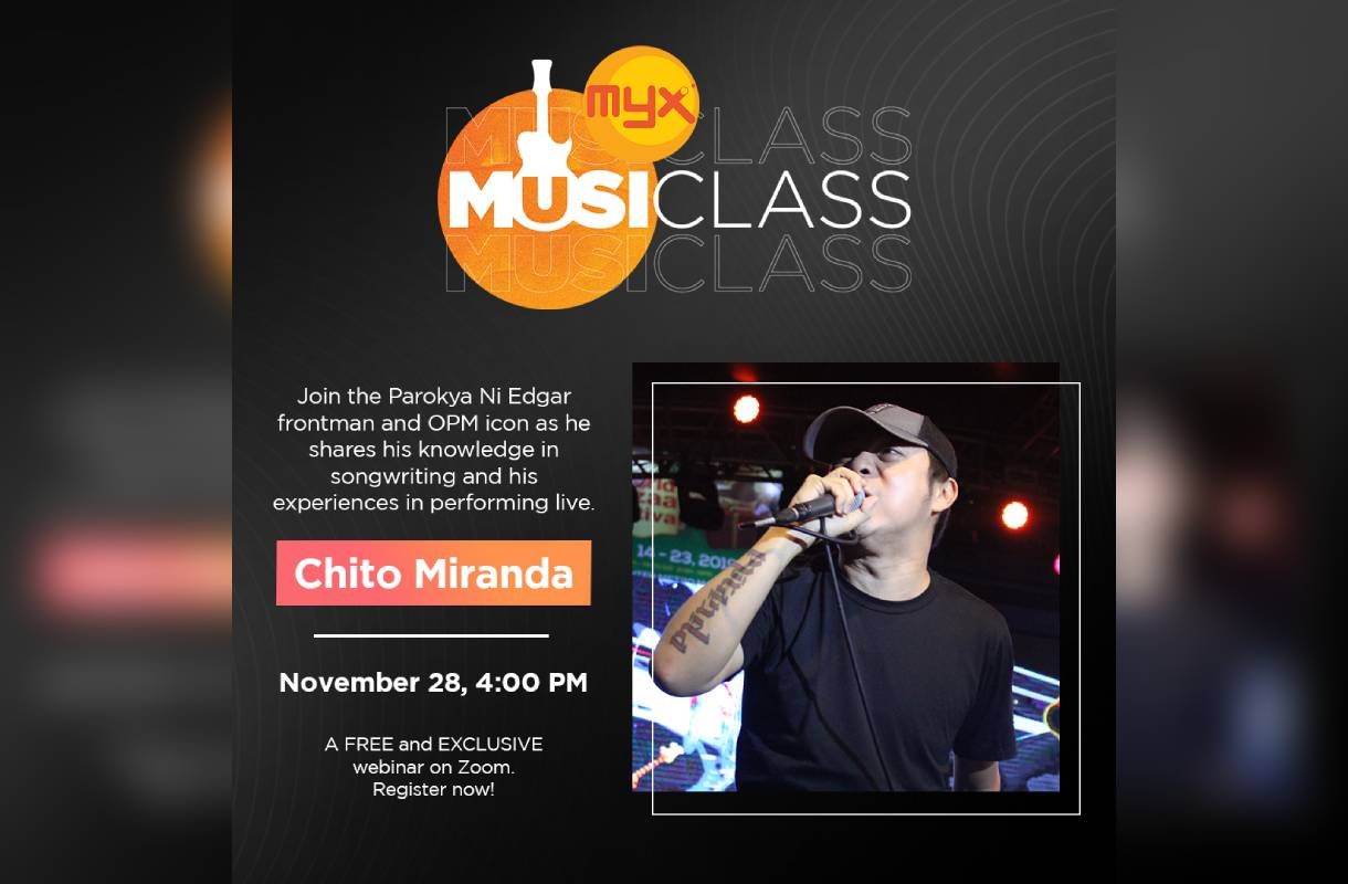 Chito Miranda signs up as music coach in