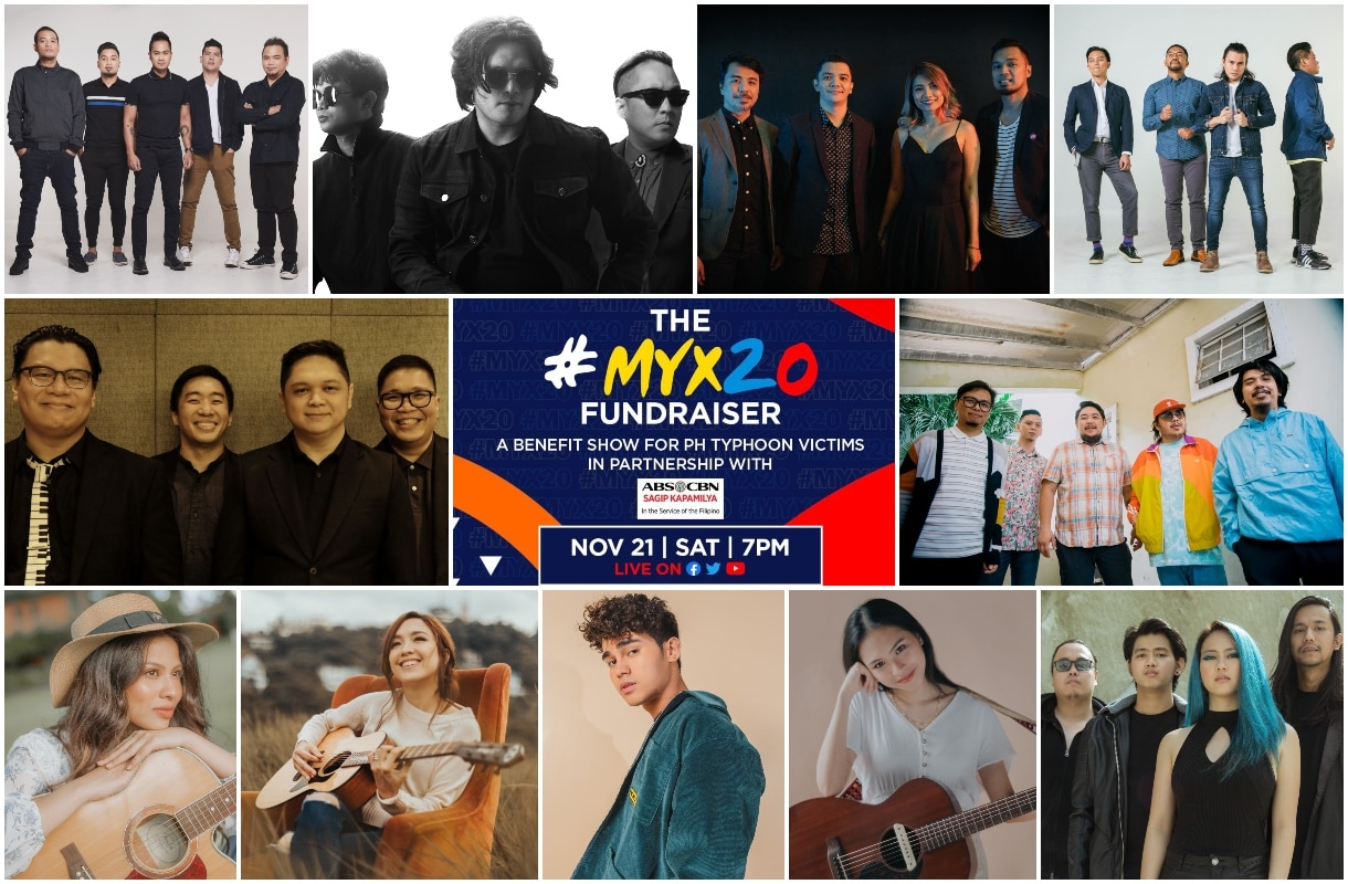MYX mounts fundraising show with OPM artists to aid typhoon victims