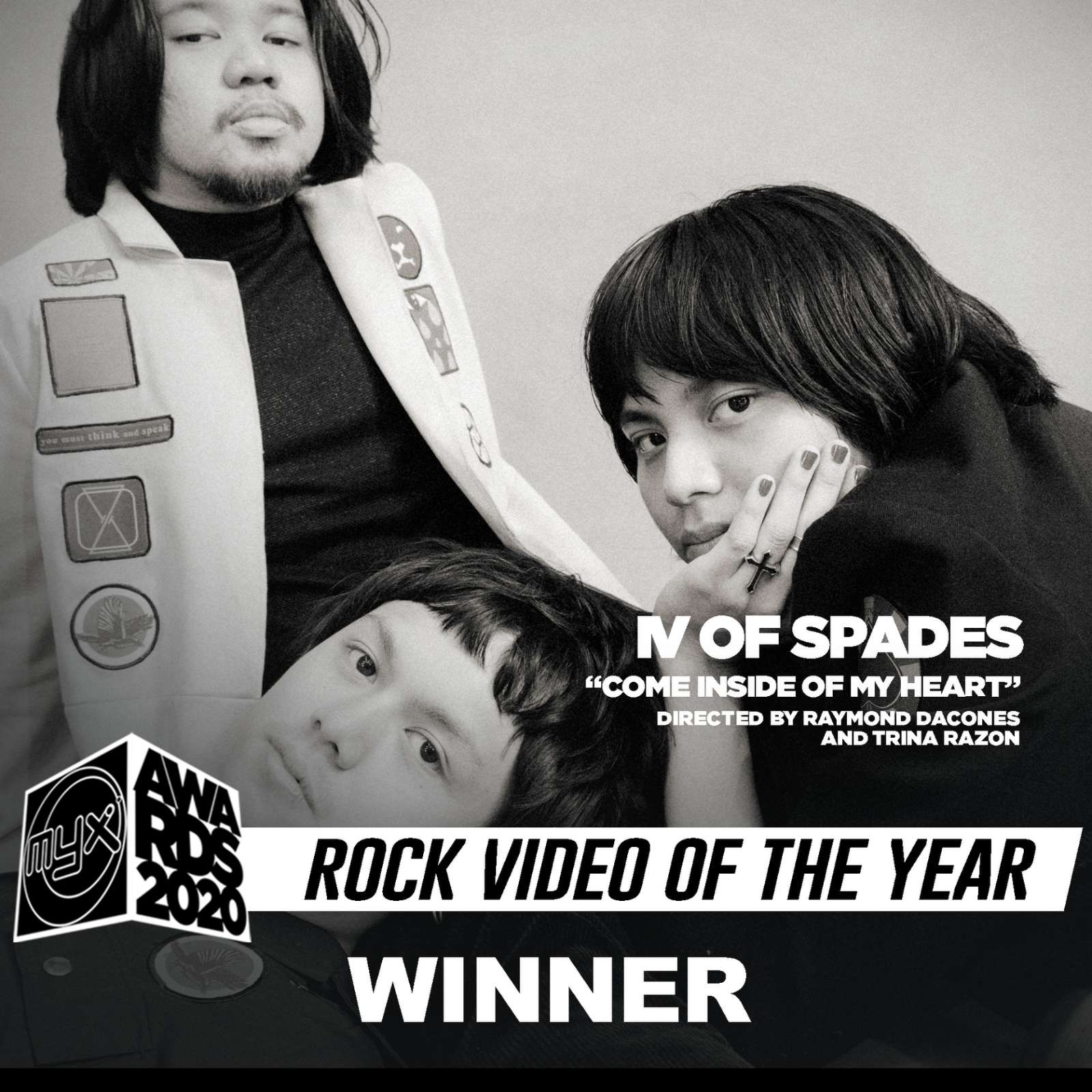 Come Inside of My Heart by IV of Spades is Rock Video of the Year