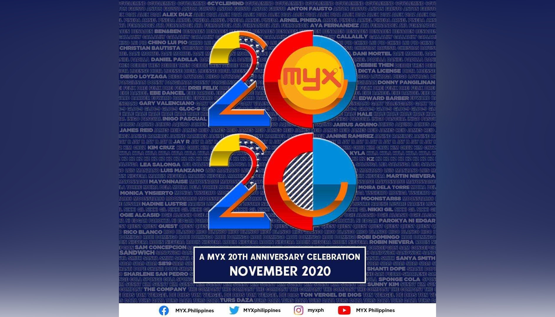 MYX celebrates 20th year this November