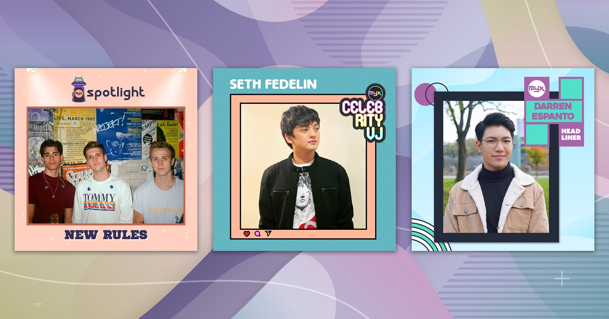Seth turns the heat up as this month's MYX celebrity VJ