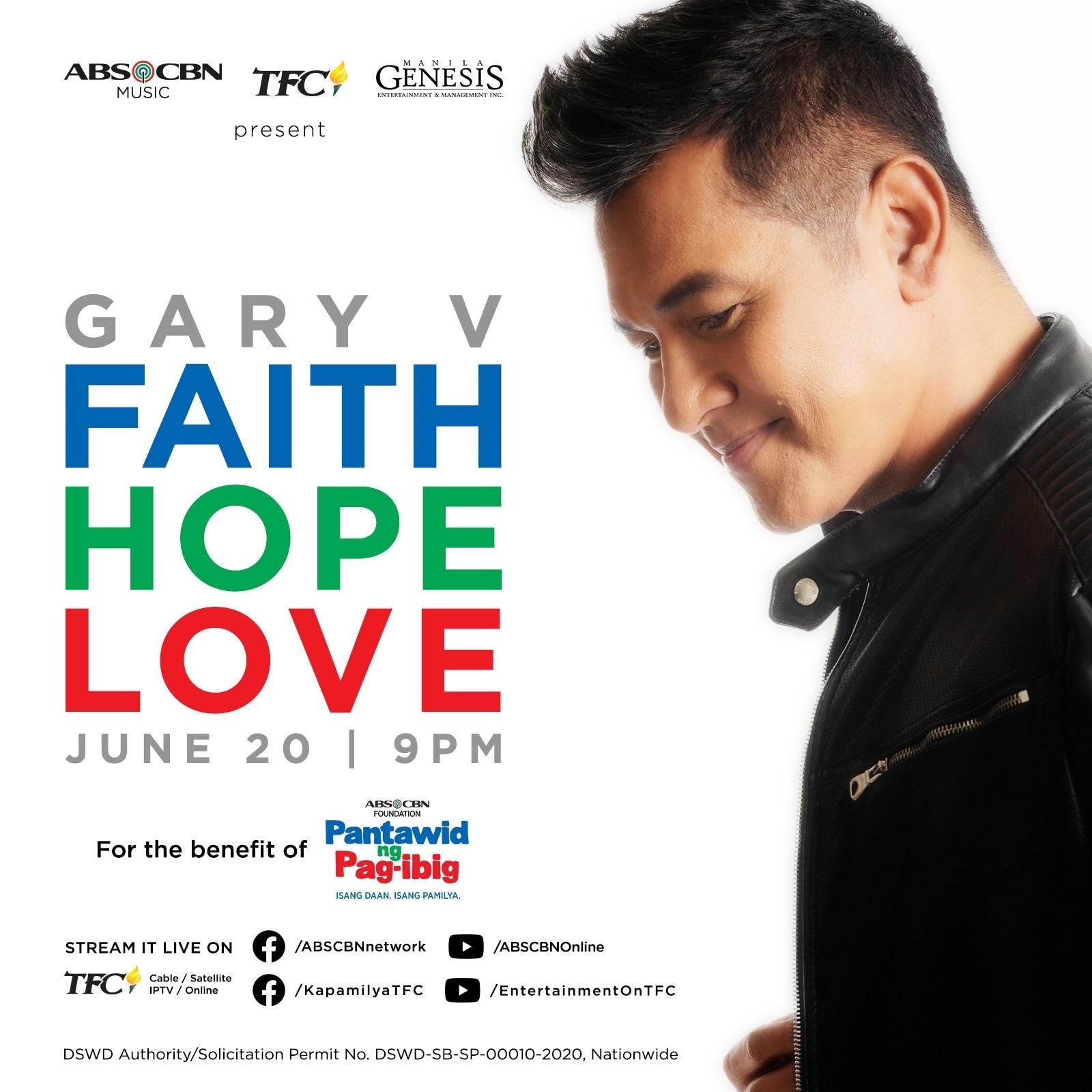 Gary V headlines Faith, Hope, Love digital concert this Saturday, June 20