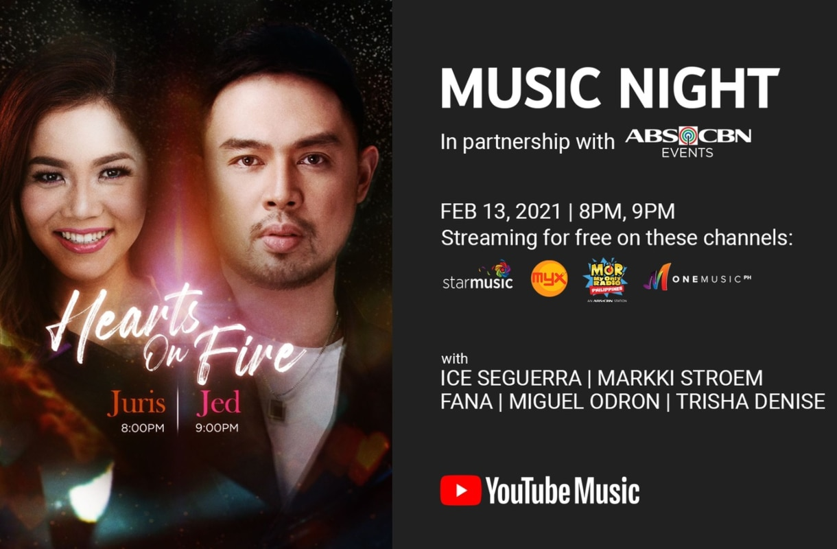 "Juris and Jed ready to set ""Hearts On Fire"" with their ""YouTube Music Night"" digital concert"