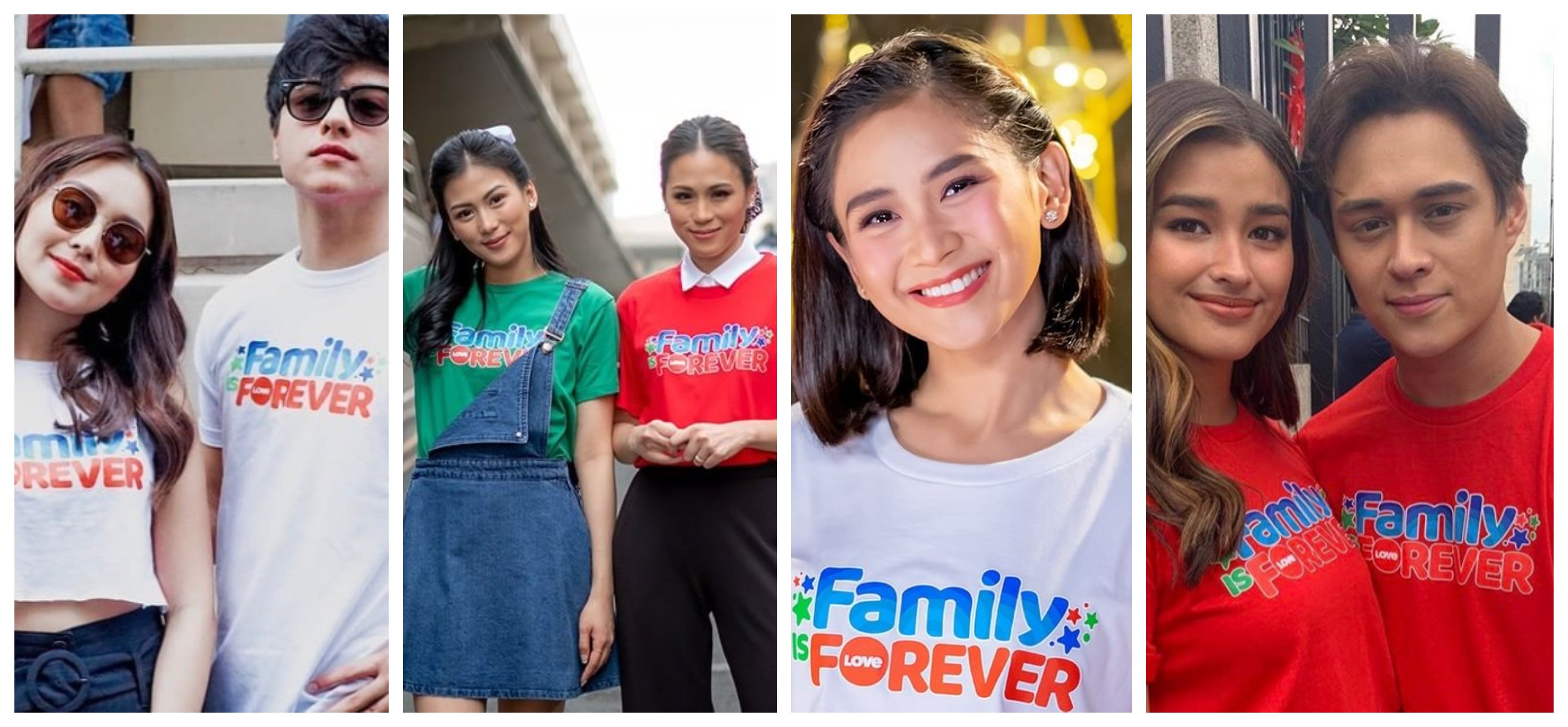 "Wear the love of family at all times with ABS-CBN's ""Family is Forever"" shirts"