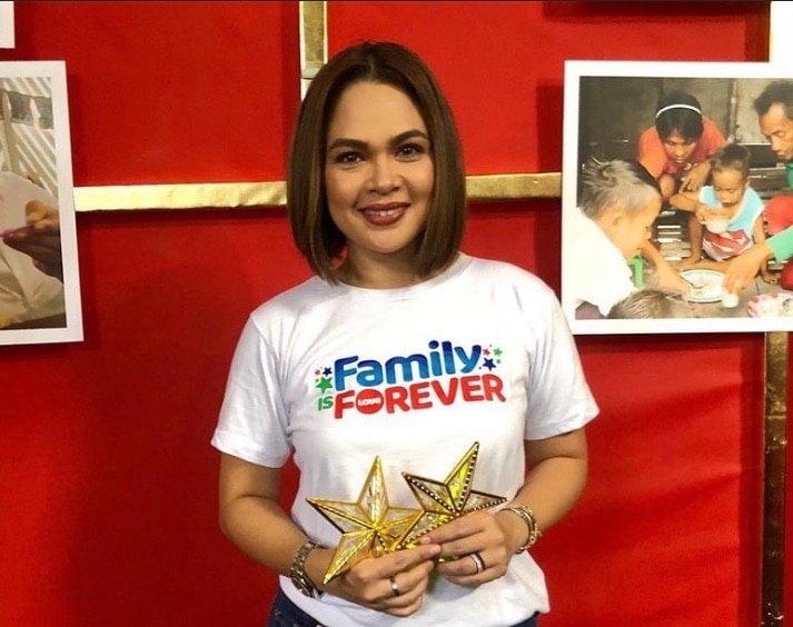 Starla star Judy Ann Santos at the ABS CBN Christmas Station ID shoot