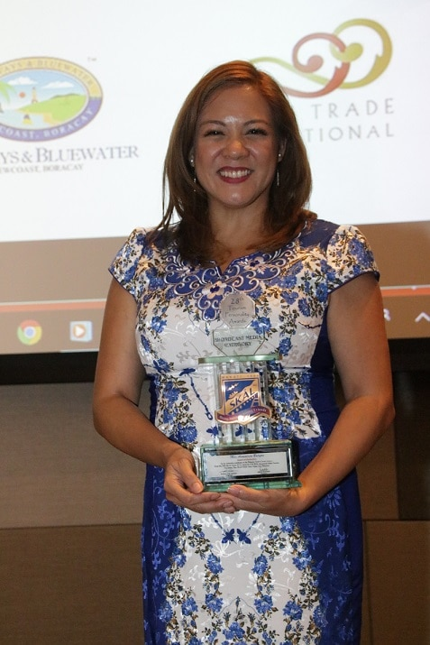 Annalisa Burgos is the 28th SKAL International Makati Tourism Personality Awardee in the Broadcast Media category