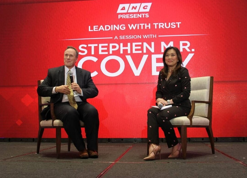 Covey praised Karen Davila for being a great interviewer during their one on one talk which will air soon on ANC