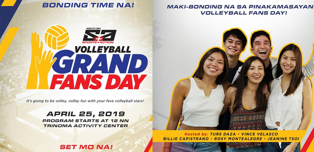 S+A Volleyball Grand Fans Day rocks Trinoma