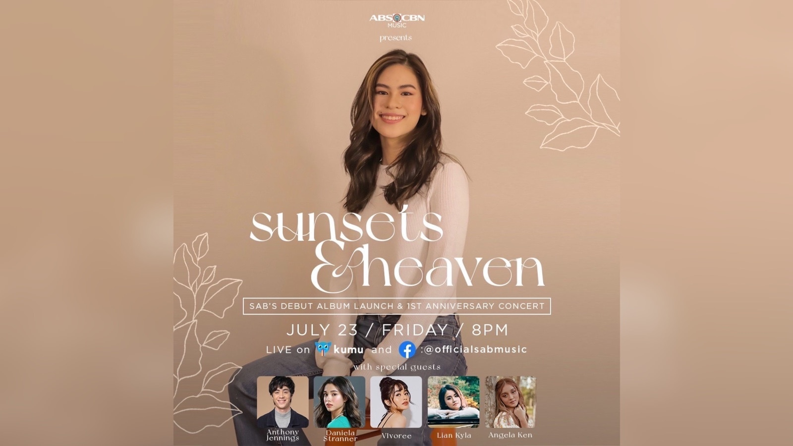 """Sab marks first music anniversary and """"Sunsets & Heaven"""" album launch with a free concert"""