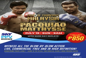 Pacquiao's comeback fight live on SKY Sports Pay-Per-View