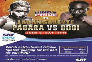 Pagara to go all out vs Odoi in Pinoy Pride 44  on SKY Sports Pay-Per-View