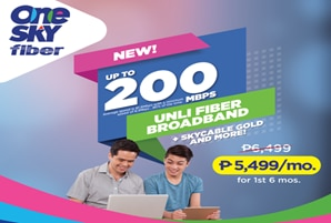 SKY launches 200Mbps unli fiber broadband with HD cable TV