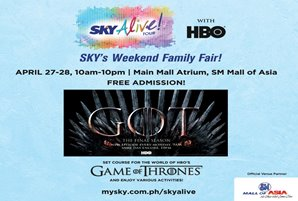 "SKY Alive! brings ""Game of Thrones"" experience to SM Mall of Asia"
