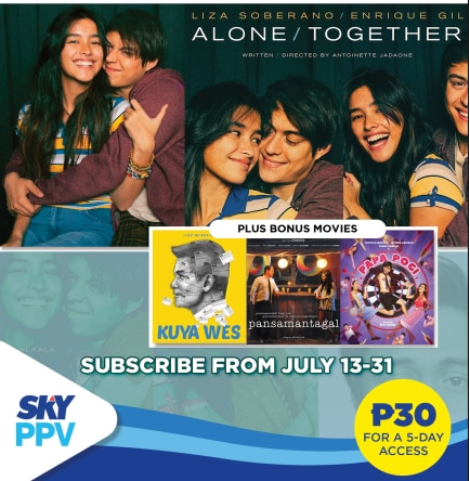 """Alone/Together"" premieres on ""SKY Pay-Per-View"""