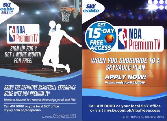 SKY brings back NBA Premium TV with promos