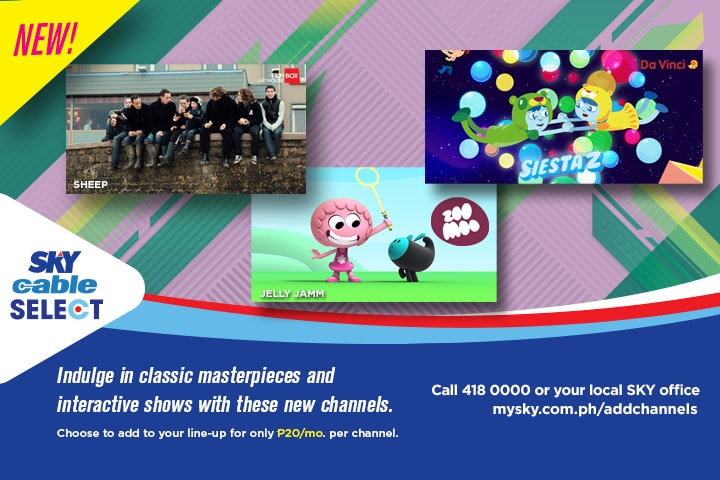 New educational channels for kids now on SKYcable Select