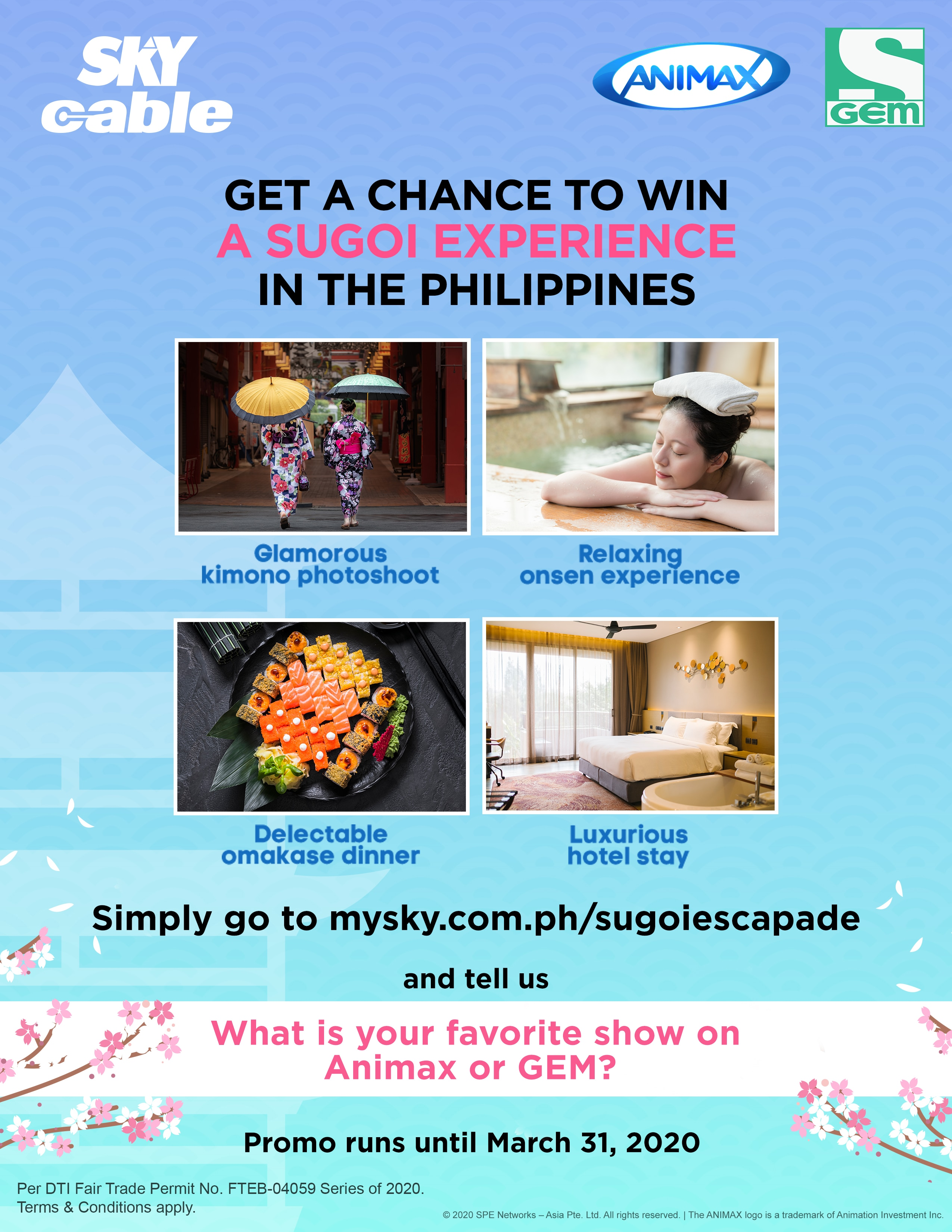 Animax and Gem treat SKY subscribers to a Sugoi Japanese experience in the Philippines