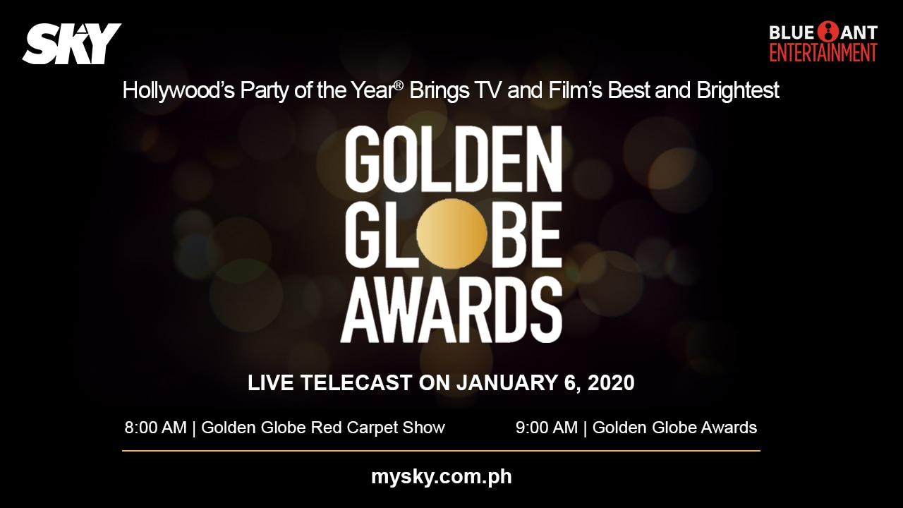 77th annual Golden Globes Awards airs live on SKY