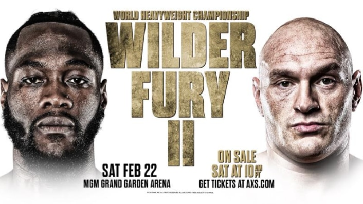 Wilder vs. Fury rematch airs on Sky Sports Pay-Per-View