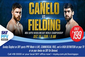 Canelo vs. Fielding for the WBA Super Middleweight Championship live via SKY Sports Pay-Per-View