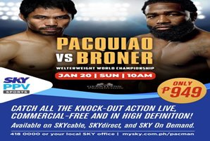 Bets are on for Pacman to take out Broner in January 20 bout
