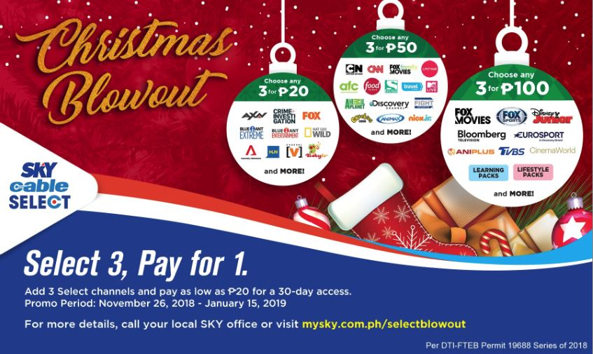 Family TV viewing made extra exciting with  SkyCable Select's Christmas Christmas blowout