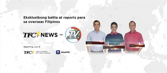 ABS-CBN News online and TV Patrol expand global news coverage with TFC News overseas segments