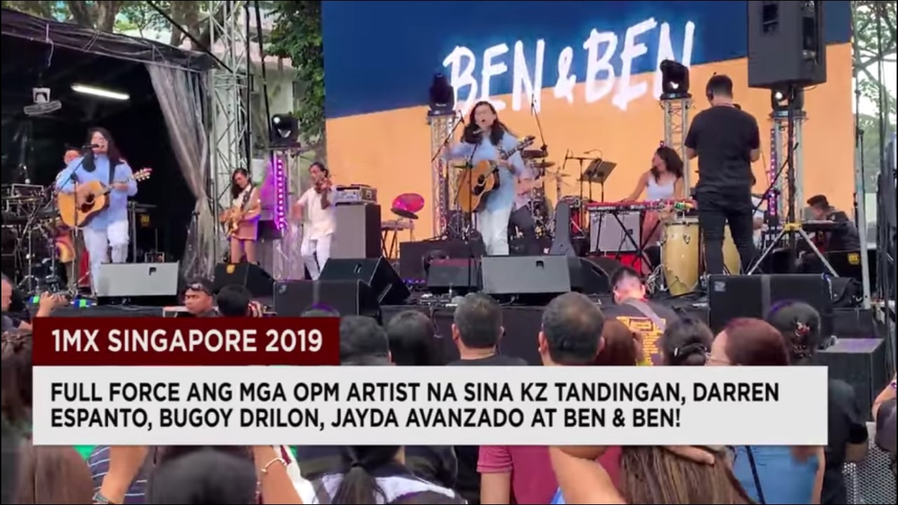 One of the recent reports from TFC News is the recently concluded 1MX Singapore 2019 music festival  Screen Capture from TFC Asia Facebook page