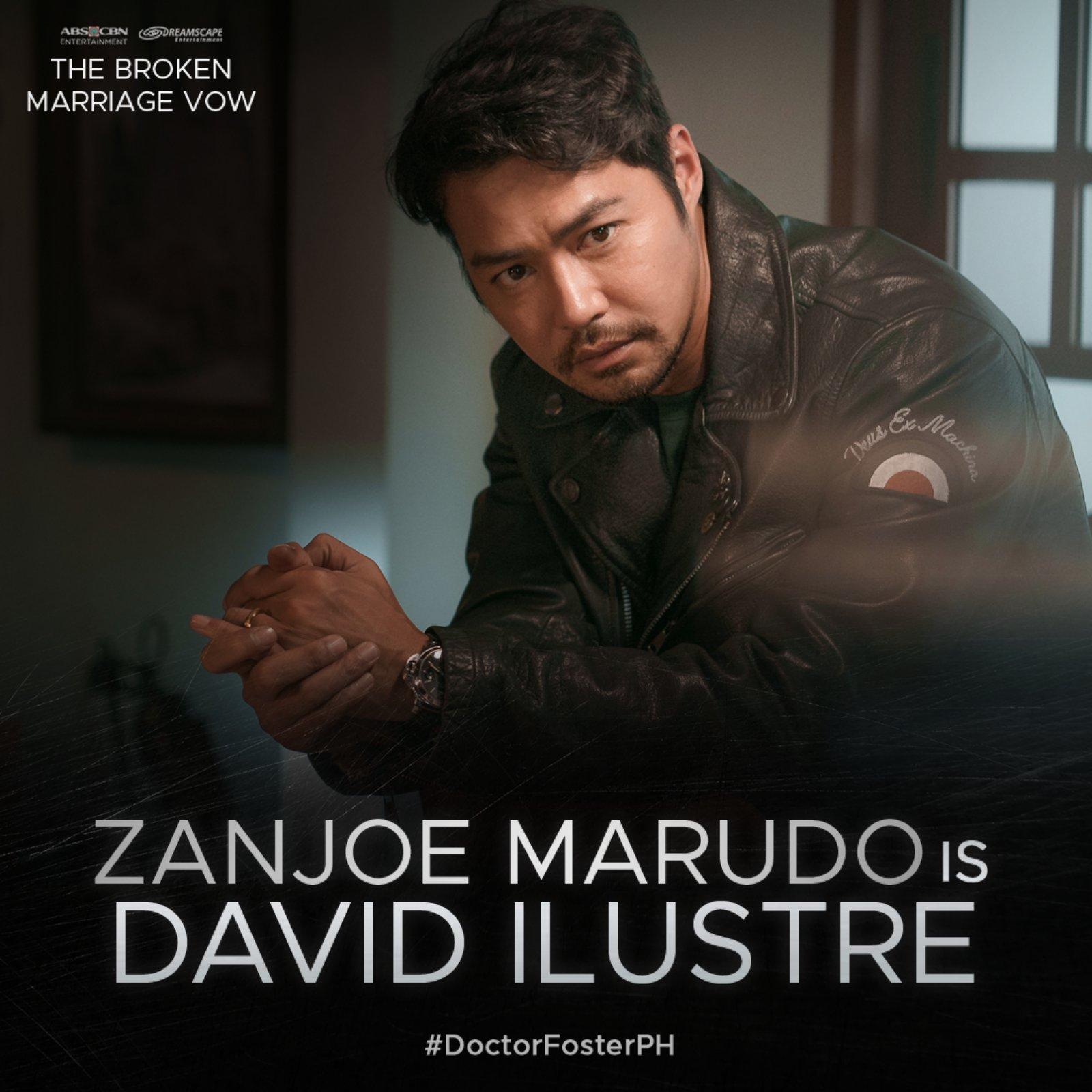 Zanjoe Marudo is David Ilustre in The Broken Marriage Vow