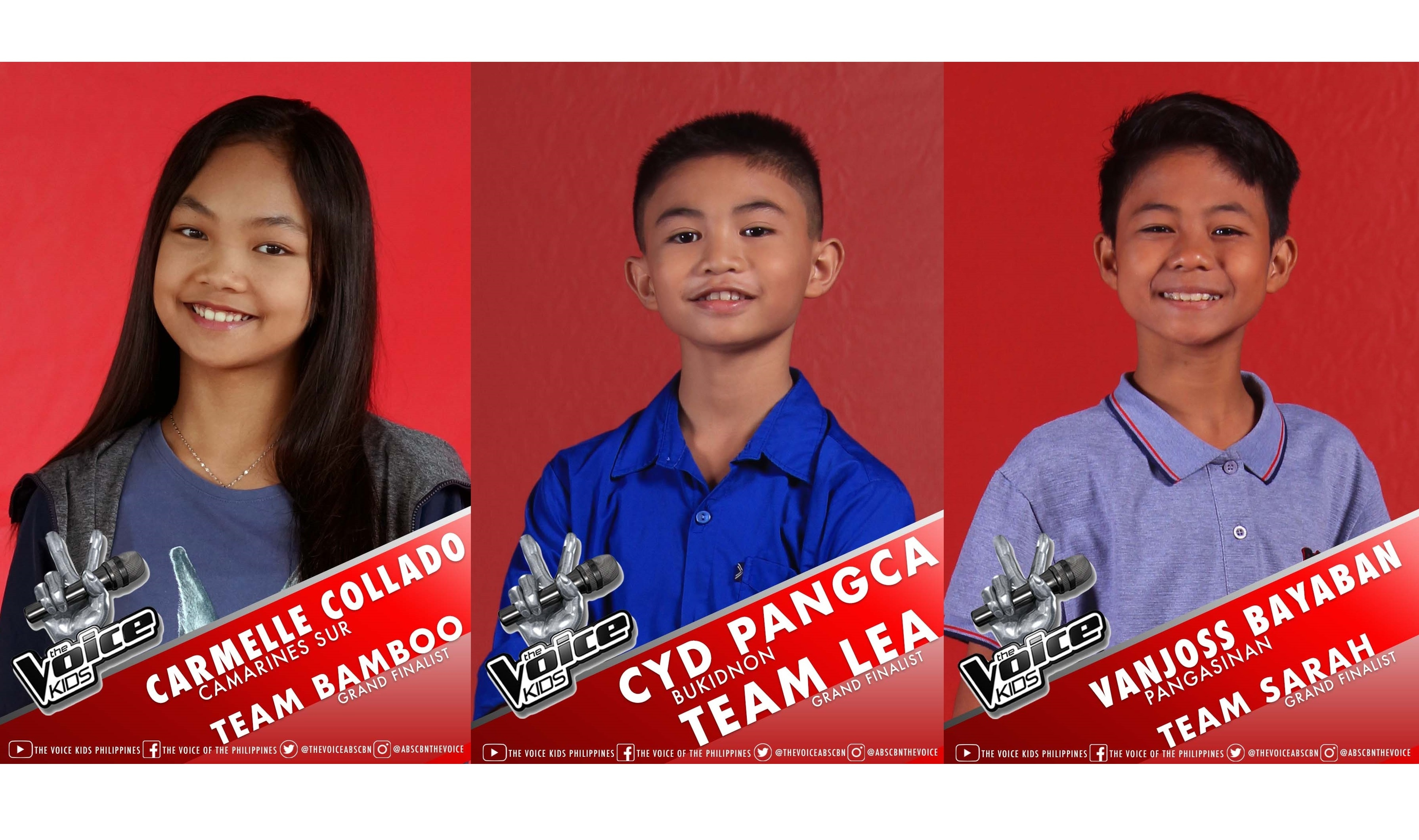 """Carmelle, Cyd, and Vanjoss woo public for votes to become newest """"The Voice Kids"""" grand winner"""