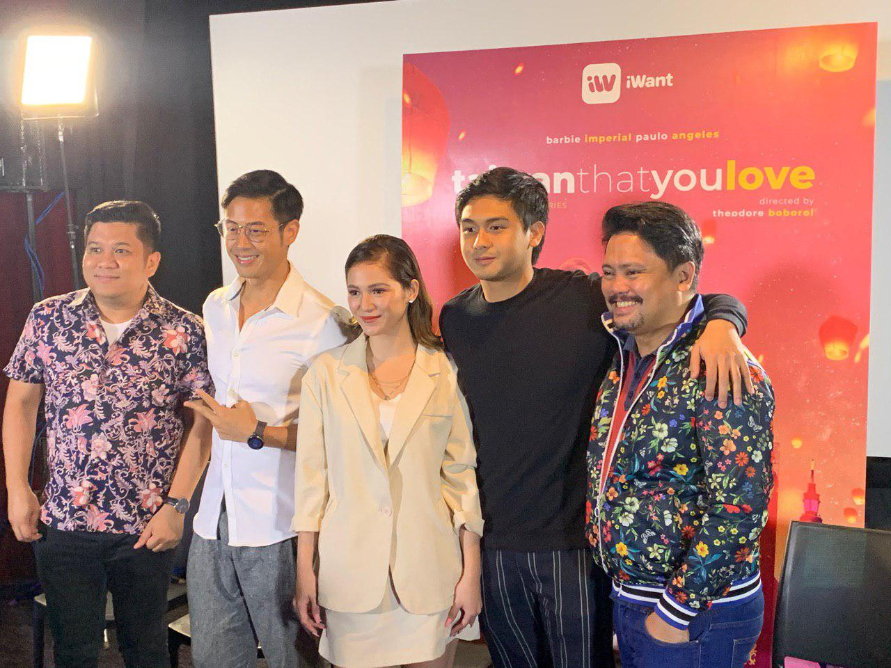 Director Theodore Boborol, Stephen Rong, Barbie Imperial, Paulo Angeles, and writer Andrew Paredes
