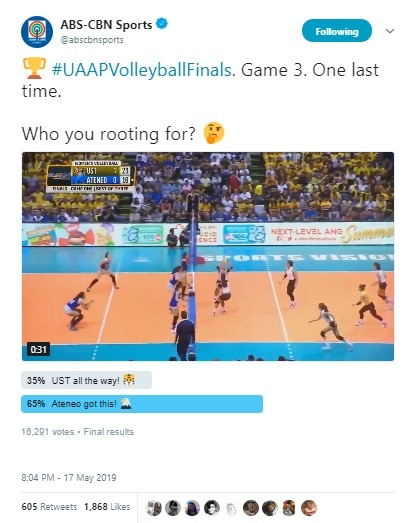 ABS CBN Sports engaged fans by asking them which team they think will win Game 3