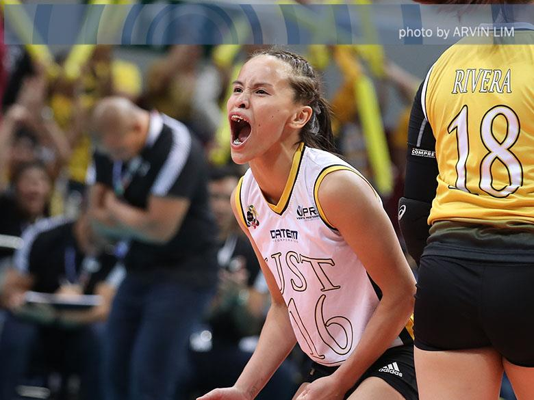 UAAP Season 81 Women's Volleyball MVP Sisi Rondina leads the charge of the Golden Tigresses to the crown