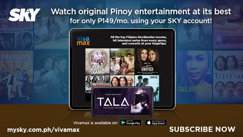 Watch the latest Pinoy movie hits on Vivamax via SKY