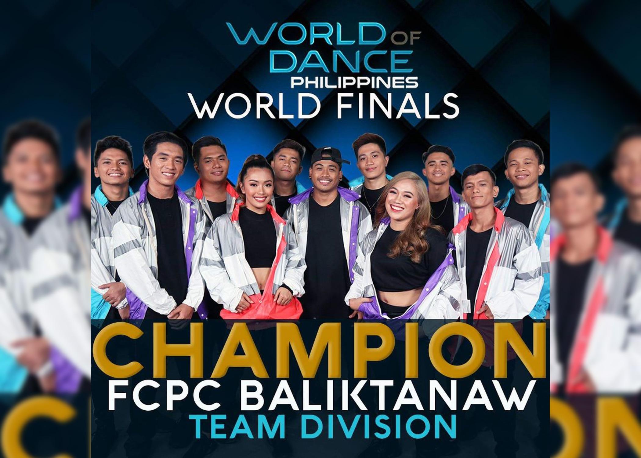 "FCPC Baliktanaw is first-ever ""World of Dance Philippines"" champion"