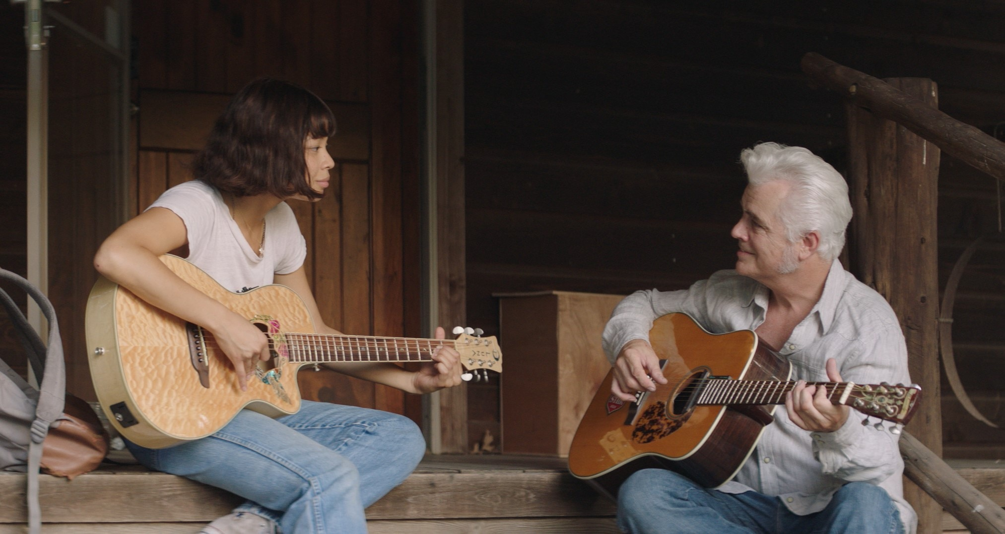 Still from film (August Thurmer)   Eva Noblezada and Dale Watson