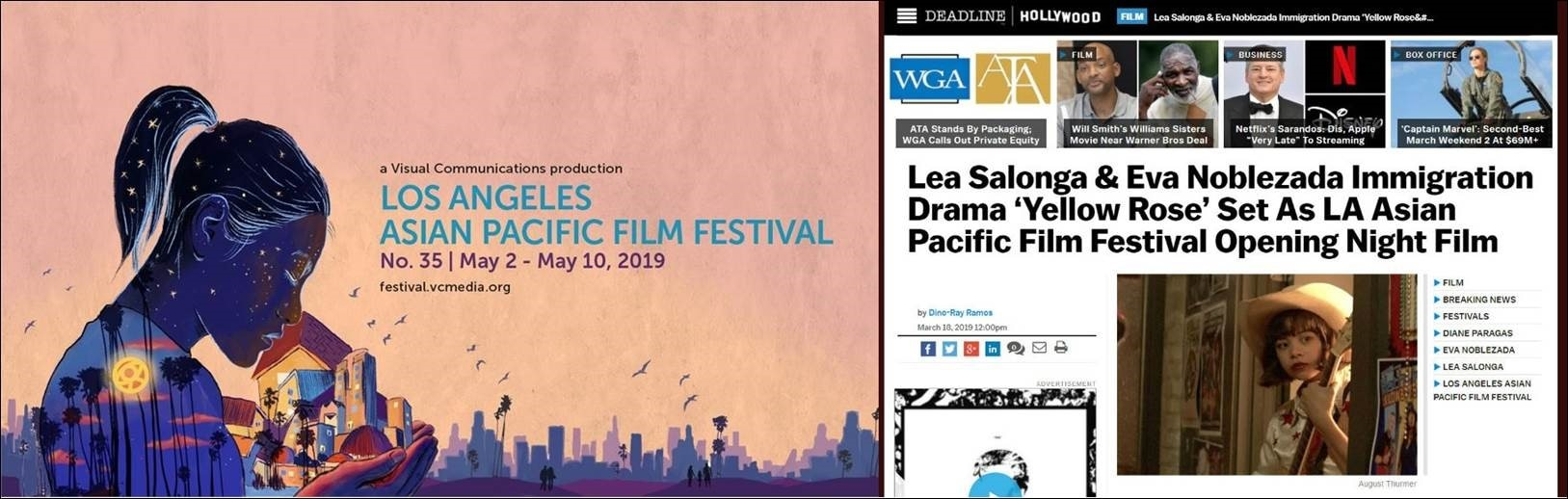Photo credits  Los Angeles Asian Pacific Film Festival and Deadline com
