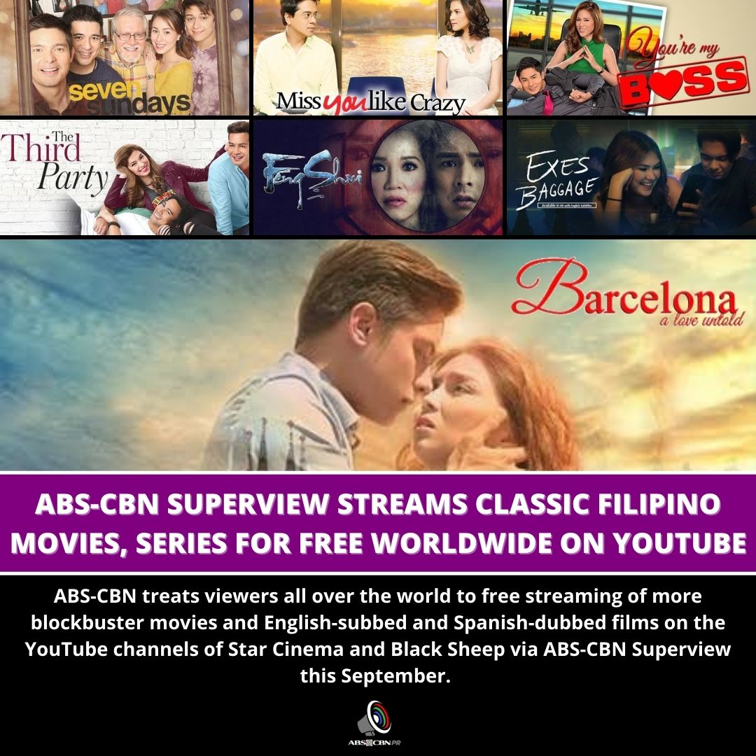 Artcard   ABS CBN Superview streams blockbuster movies and English subbed and Spanish dubbed films for free worldwide on YouTube